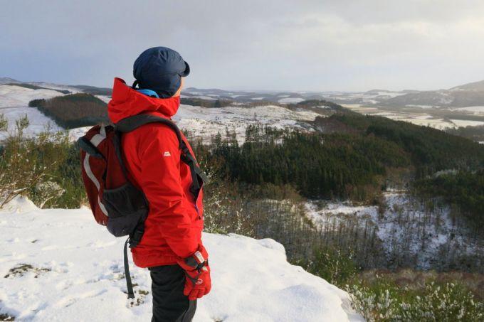 hiker wearing full winter gear