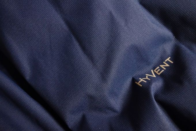fabric with the hyvent logo