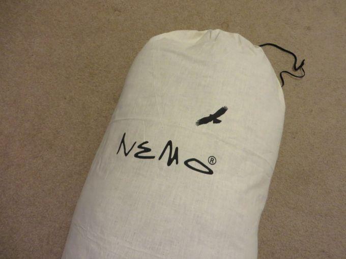 packaging of nemo sleeping bag