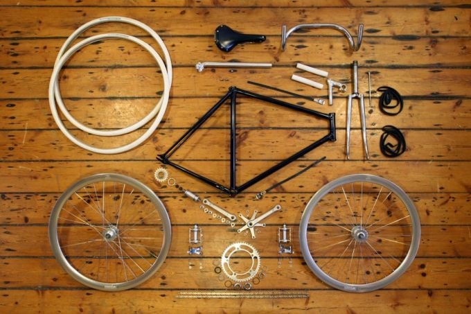 parts of fixed gear bikes
