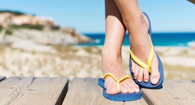 plastic foam flip flops