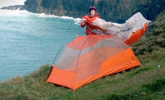 putting on tent fly