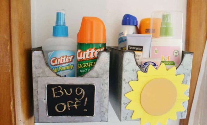 separate bug spray and sunscreen