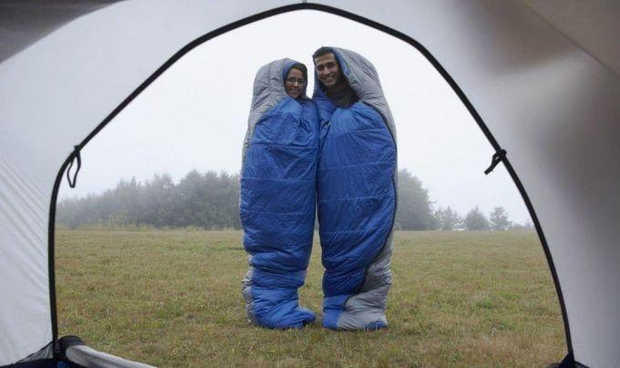 sleeping bag couple