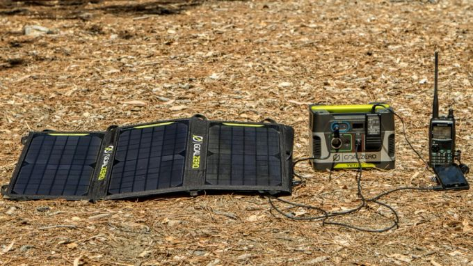 charging on solar power