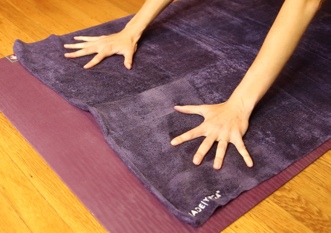 unslippery yoga towel