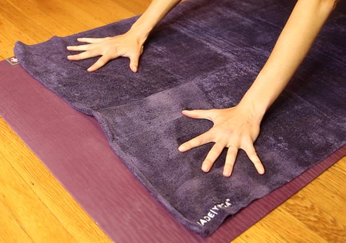 unslippery yoga towel