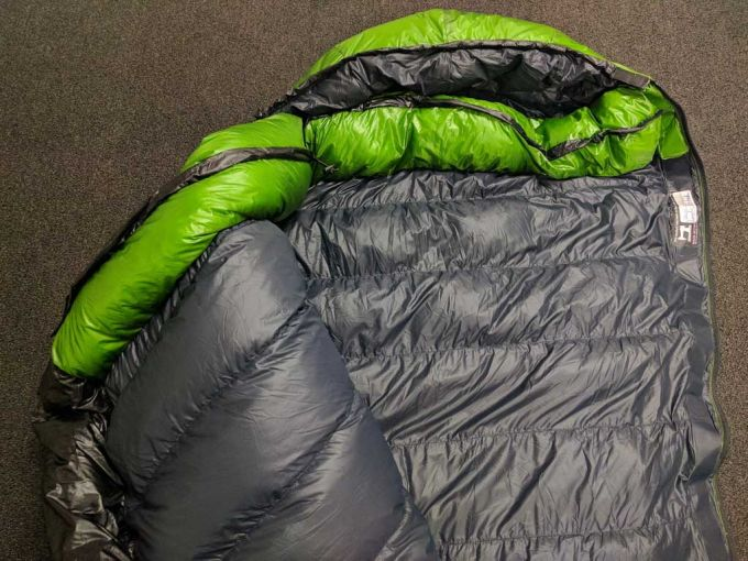 warmth of the sleeping bag