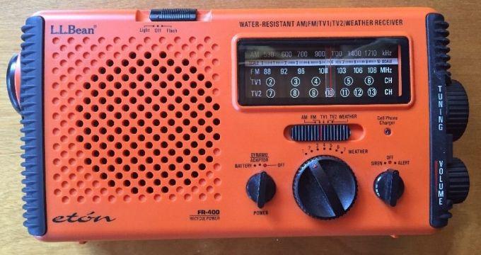 water resistant survival radio