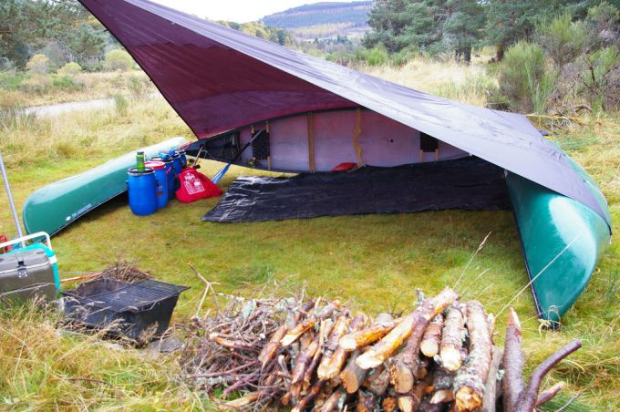 well organized camping