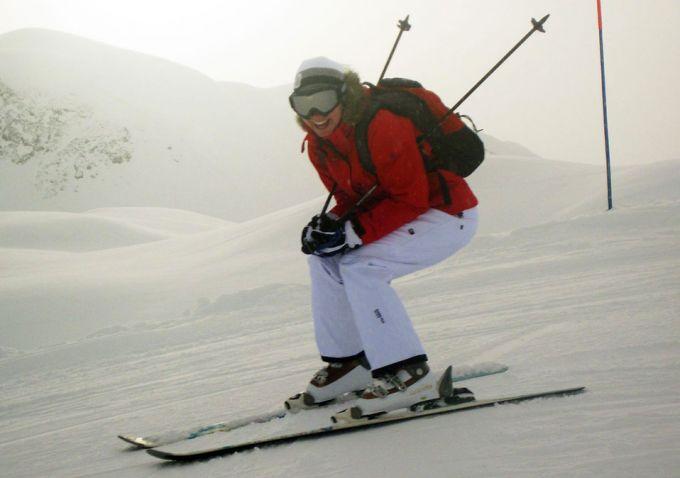woman wearing windproof jacket
