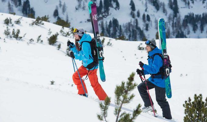 women wearing gore tex ski jacket