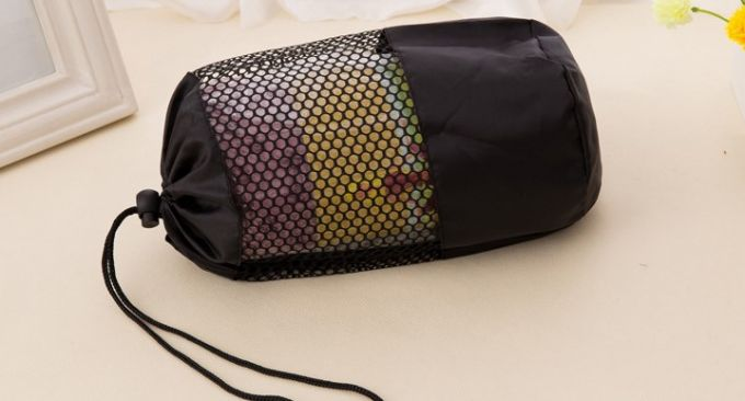 yoga towel in a bag