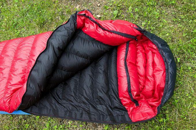 opened western mount. sleeping bag