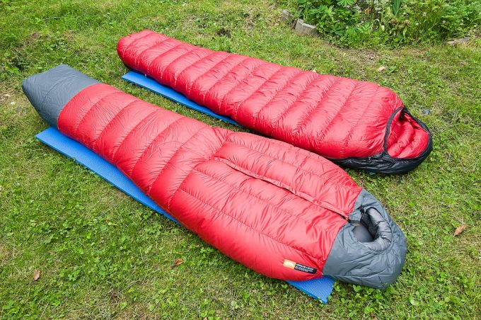 two western mount sleeping bags on grass