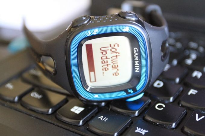 Image showing a GPS watch on a laptop