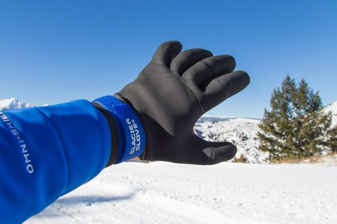 Image showing a man wearing a pair of winter waterproof gloves