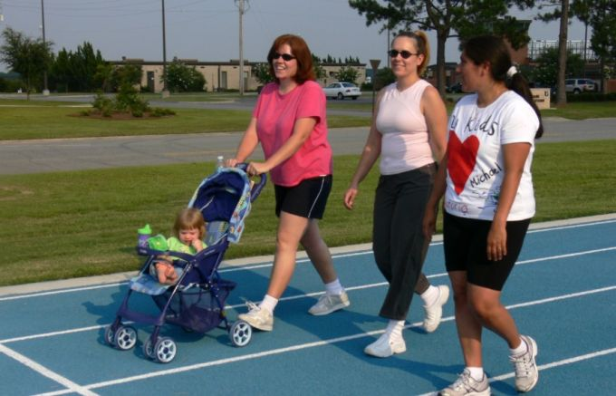 mom with jogger stroller