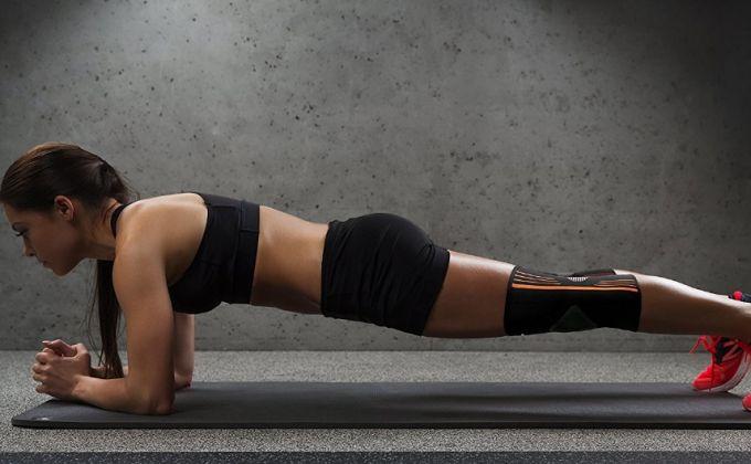 plank with knee brace