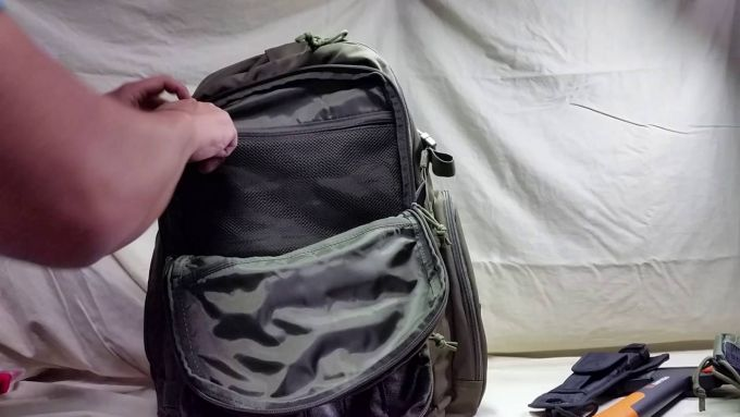 tactical backpack compartments