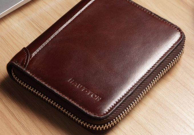 leather waterproof wallet