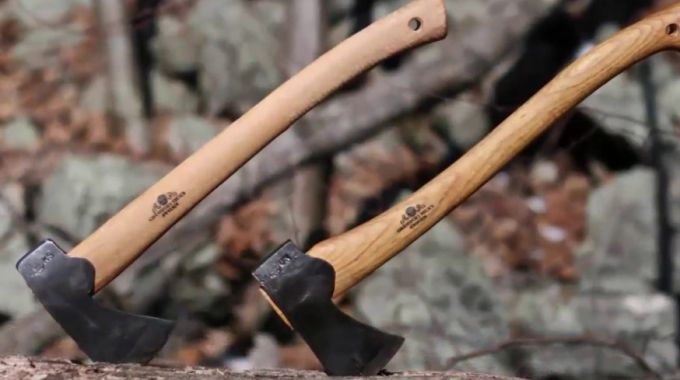 two survival hatchets