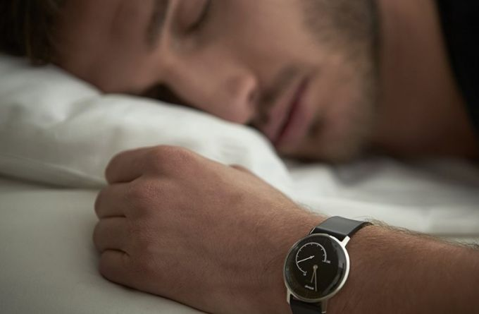 sleeping with pedometer watch