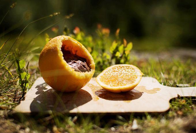Campfire Orange Cake