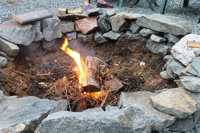 Campfire at Fire Place