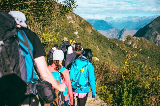 People Backpacking
