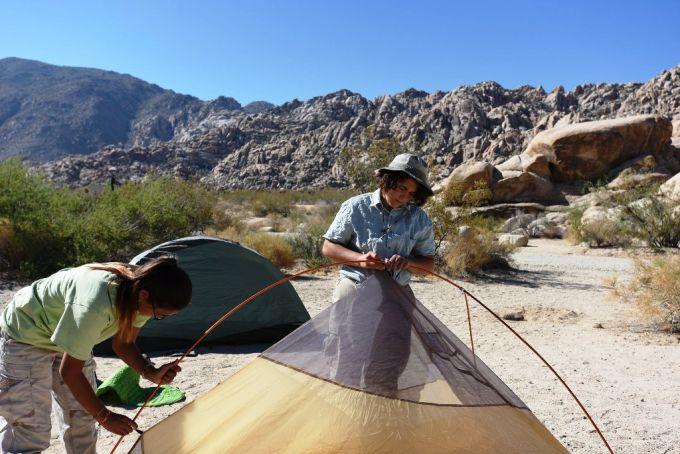 Tent Folding