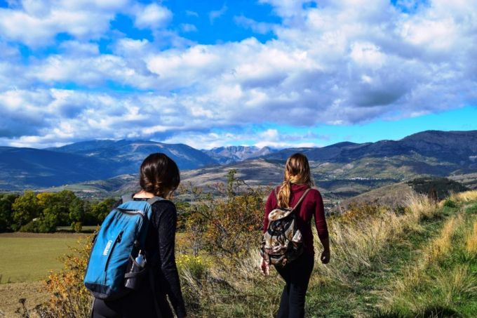 Two Woman Backpacking