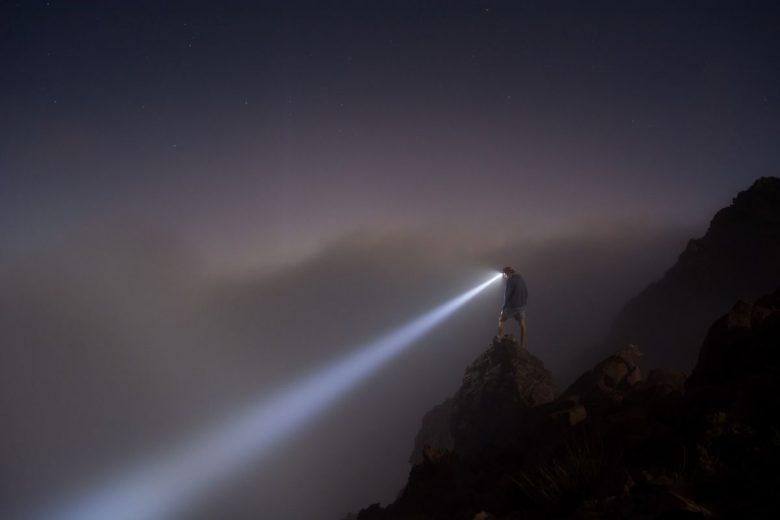 flashlight when hiking